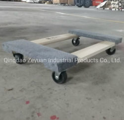 Factory Four Caster Wheel Platform Moving Wooden Dolly