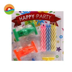 Flameless Spiral Birthday Cake Party Decorative Children Candles With Little Cars