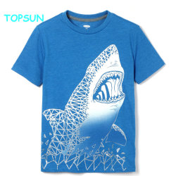 740f7785 Custom Bamboo Cotton Boys Printed Round Neck T Shirt Children Short Sleeve  Plian Apparel Fashion Baby