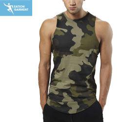0dd892ddde7f25 Crew Neck Sleeveless Tank Top Raw Cut Camo Gym Singlets Wholesale