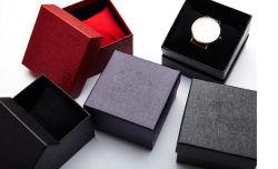 Lichee Pattern Flip Watch Box, Watch Packing Box, Glue Box, Plastic Watch Box