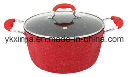 Kitchenware Forged Aluminum Marble Coating Dutch Oven