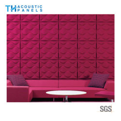 Interior Decoration Polyester Fiber 3D Sound Proof Acoustic Wall Panel / Ceiling Board