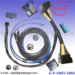 china bmw wiring harness, bmw wiring harness manufacturers automotive wiring harness connectors bmw 740l car radio replacement 40 pin connector stereo wire harness &steering wheel control interface