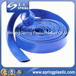 Blue PVC Drip Irrigation Layflat Hose for Water and Slurry Pumping