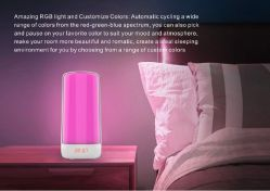 Touch Table Snooze Lamp Bedside Sunrise with White and Colorful Wake up Sound Machine LED Clock Morning Wake-up Alarm Light