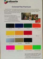 Washable Soft Neon Yellow Cuttable PU Flex Transfer Paper