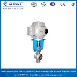 Wafer Stainless Steel Electric Control Valve for Calcium Carbonate Slurry