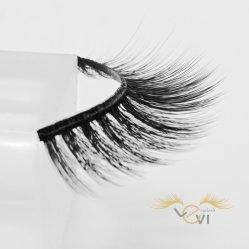 Natural Black 3D Artificial Makeup Faux Mink Silk False Eyelash for Eye Beauty