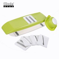 Manual Plastic Food Chopper with 5 Stainless Steel Blades