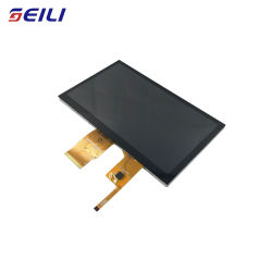 Full View Angle 500CD/M2 High Brightness 1024X600 IPS RGB 50pin 7 Inch TFT LCD Capacitive Touch Screen