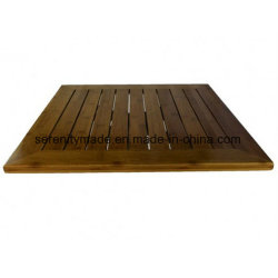 Outdoor Use Slatted Wooden Restaurant Table Top