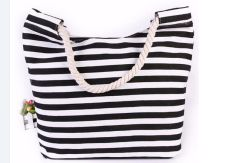 Wholesale Strip Ladies Canvas Denim Fashion Beach Bags