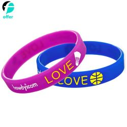 Rainbow Gay Pride Wristbands Silicone Rubber Bracelets