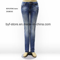 39417526f38fe Comfortable Stretch Skinny High Waist Ladies Top Design Jeans for Women  (20180102)