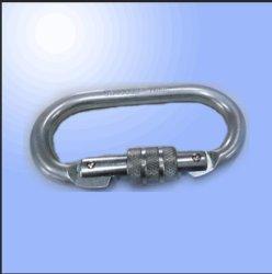 Rock Lock Screwgate O Locking Carabiner with Sliver