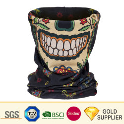 Factory Wholesale Custom Seamless Magic Jacquard Multifunctional Sport Polyester Fleece Cravat Collar Neck Cooling Tube Scarf for Promotion Gift