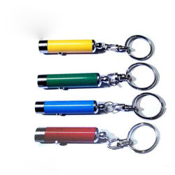 Portable Metal Colorful Keychain Lights