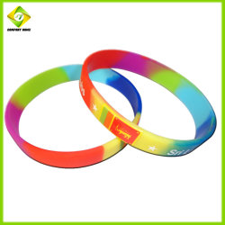 Fashion Waterproof Glow in Dark Gift Sports Logo Silicone Wristbands