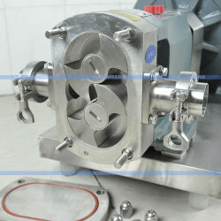 Stainless Steel Sanitary Rotary Lobe Pump Jam Delivery Rotor Pump