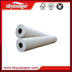 New 100GSM 24inch (610mm) Wholesale Roll Fast Dry Sublimation Transfer Paper for Inkjet Printer Epson/Mimaki/Roland