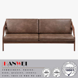 Home Modern Walnut Oak Beech Fabric Wooden Living Room Sofa