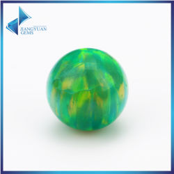 Round Ball Shape Blue Green Synthetic Fire Opal