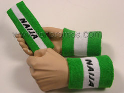 Football Team Fans Sports Gifts Cotton Head Band Sweat Band 3 in 1 Set