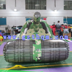 Outdoor Game Inflatable Tank Car Model