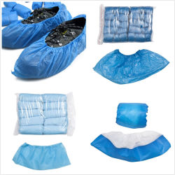 Wholesale Cheap Disposable PE CPE Plastic and Nonwoven Medical Waterproof Shoe Cover
