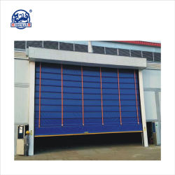Automatic High Speed Rapid Belt Stacking PVC Folding Door