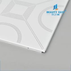 Decorative Perforated Plain Pattern Aluminum Clip In Ceiling Tile