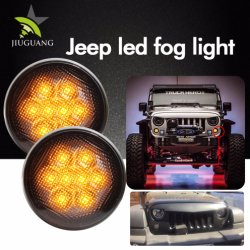 Wholesale 2000K 3000K Black Chrome 12V LED Fog Light for Jeep