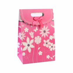 Cheap Holiday Red Fashion Art Coated Shopping Gift Paper Bags