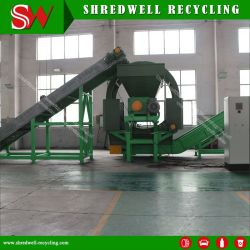 Tire Recycling Line for Shredding Tda Aggregate for Road Subgrade