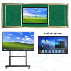 "70"" Large Screen All in One PC with WiFi Bluetooth Infrared Touch Wall-Mounted Designed Metal Brushed Aluminum Frame"
