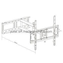 Full-Motion LED/LCD/PDP TV Mount Fit for 21-55''