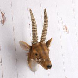 Resin Animal Deer Head Wall Mount Hanging Wall Decoration