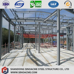 Sinoacme Prefabricated Metal Frame Shop with Curtain Wall