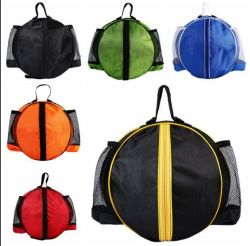 Portable Basketball Backpack Water Bottle Ball Pack Soccer Sports Bags