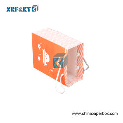 Flexo Printing Recycled Custom Pattern White Kraft Paper Bags