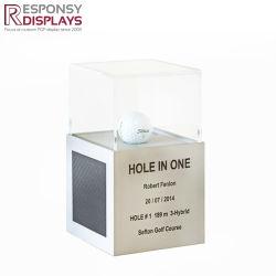 Attractive Design Clear Acrylic Box Golf Ball Display Case