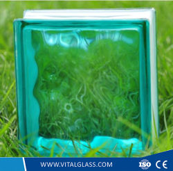 Tempered Toughened Safety Clear/Blue/Green/Pink Glass Block (G-B)