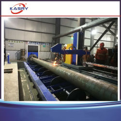 Roller Bed Type Round Pipe CNC Plasma Flame Cutting Line/Pipe Bevel Cutter