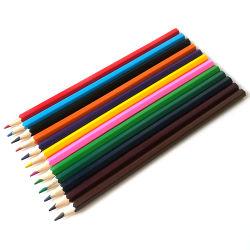 Customized 7inch Hexagonal 12PCS Kids Painting Wooden Color Pencil Set