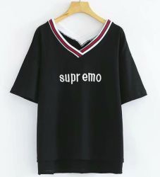 V Neck Embroidered T-Shirt for Sportswear