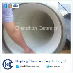 Chemshun Wear Resistant Ceramic Pipe Tile for Steel Pipe Composite