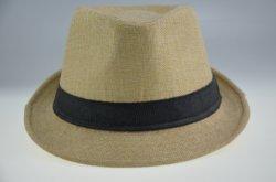BSCI Unisex Straw Jazz Hat Belt Hat Panama Bowler Hat