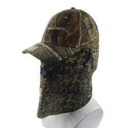 Custom Promotional Cap High Quality Camouflage Snapback Cap Baseball Hat with Ear Flap Sports Protection