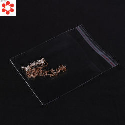 Custom Transparent Clear Self Adhesive OPP CPP Laminated Plastic Bag for Apparel Jewelry Packaging